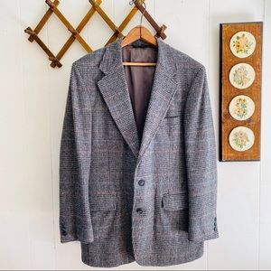Vintage Plaid Wool Sport Coat Blazer Made In USA
